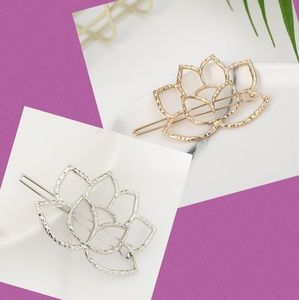 NEW!! 2 Lotus Flowers Gold+Silver
